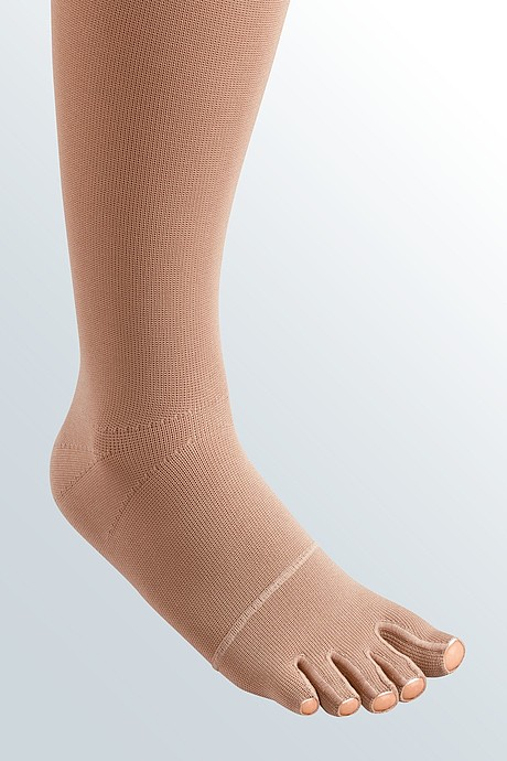mediven 550 leg compression stockings seamed toe cap caramel