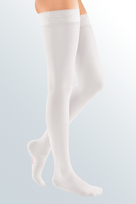 mediven elegance compression stockings white