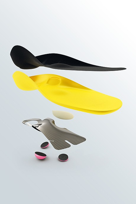 igli Allround individual carbon insoles composition