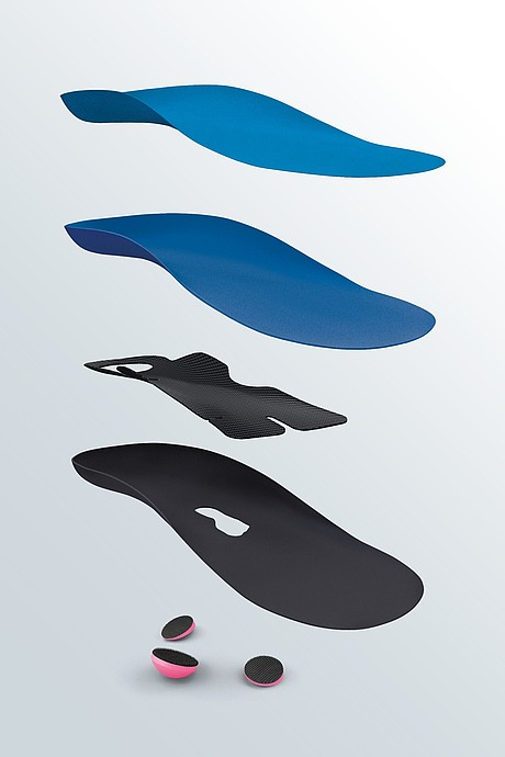 igli Junior blue C+ insoles for children relief components