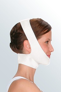compression bandage after face treatment
