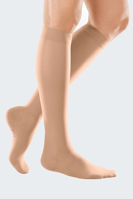 mediven elegance compression stockings knee-high caramel