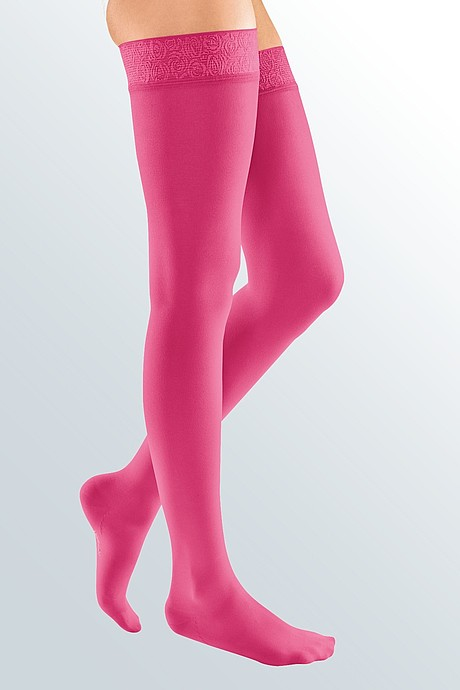 mediven elegance compression stockings magenta
